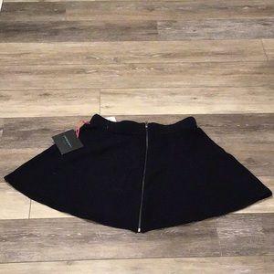 Navy blue sweater material mini skirt